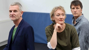 Julia Hülsmann with drummer Heinrich Köbberling, left and bassist Marc Muellbauer, right: back from her travels and a sixth album for ECM just out