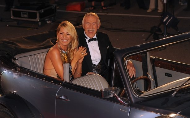 Bruce with Tess Daly