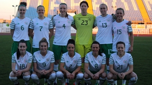 The Ireland Women's team that drew 0-0 with Hungary