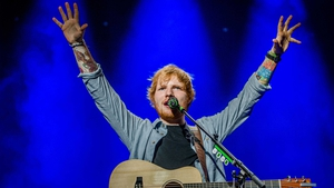 Ed Sheeran has raced to the top of the Irish charts