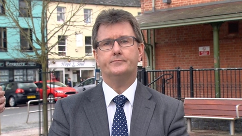 Jeffrey Donaldson made the remarks during a speech to the Institute of European Affairs in Dublin