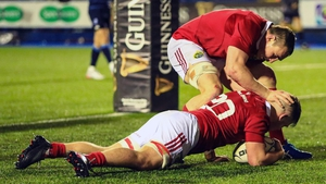Conor Oliver touches down for Munster