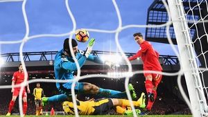 Roberto Firmino smashes home the opener as Liverpool beat Arsenal