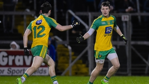 Cousins Ryan and Eoin McHugh in action for Donegal during the League