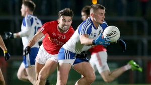 Dermot Malone was one of two players sent off for Malachy O'Rourke's Monaghan side