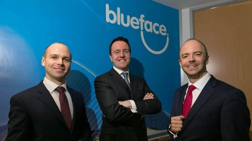Blueface CEO Alan Foy (centre) said the merger is a 'game-changing event' in the sector