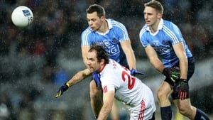 Dublin's Dean Rock tussles with Justin McMahon of Tyrone during their league clash last month