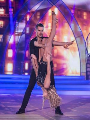 Week 9: Aoibhín Garrihy and Vitali Kozmin went full Beyoncé for their salsa. Aoibhín's Queen B worthy hair and dress stunned on the dance floor!