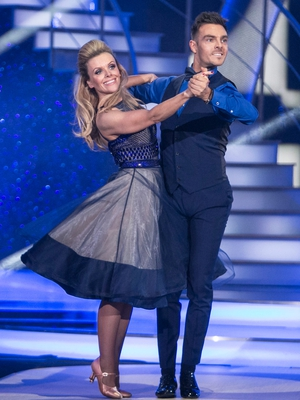 Week 9: Denise McCormack and Ryan McShane wore blue for their Amy Winehouse inspired quickstep.