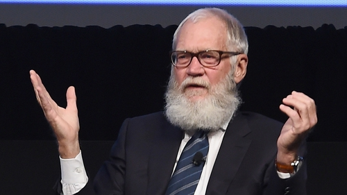 """David Letterman - """"Eventually Trump's going to take a fastball off the sternum and have to leave the game"""""""
