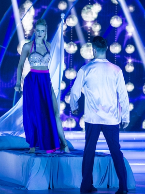Week 8: We love a good theatrical look and Aoibhín couldn't look more stunning.