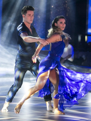 Week 8: Dayl and Ksenia went barefoot for their dramatic performance. How amazing is Ksenia's floor length gown?