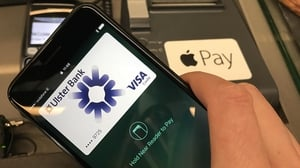 Apple Pay launched in Ireland earlier this month, initially with two Irish banks - KBC and Ulster Bank