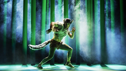 Mateusz Szczerek as The Wolf in CoisCéim Dance Theatre's The Wolf And Peter, by David Bolger