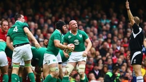 Devin Toner, Sean O'Brien and Paul O'Connell react to a Wayne Barnes decision in Cardiff two years ago.