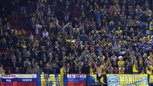 Rostov fans at a a recent Champions League match against Atletico Madrid