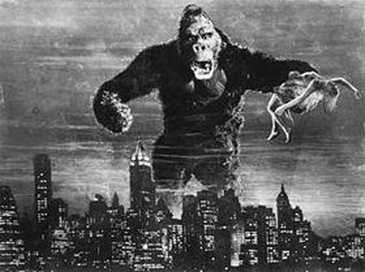King Kong on screen