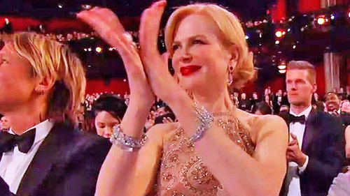 If you're happy and you know it clap your hands (unless you are Nicole Kidman, in that case please don't)