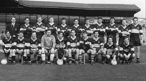 Colm Cooper, front, was mascot for Dr Crokes when they won the 1992 All-Ireland title