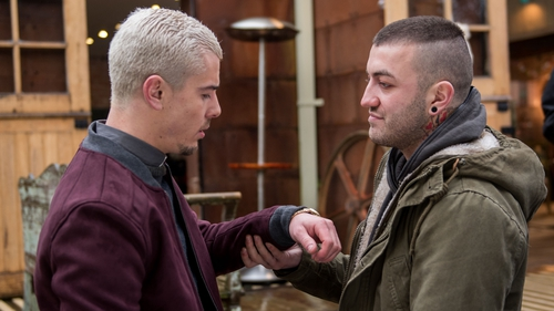Bart blackmails Joel this week on Hollyoaks