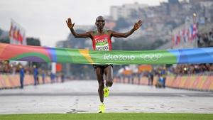 Eliud Kipchoge won the Marathon at the 2016 Rio Olympics - one of six gold medals won Kenya in Brazil