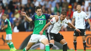 Craig Cathcart in action against Germany in last summer's European Championships