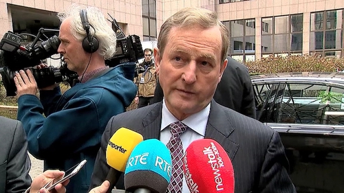 Enda Kenny is at an EU leaders summit in Brussels