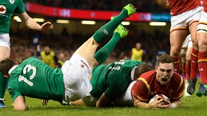 George North crashes over in Cardiff