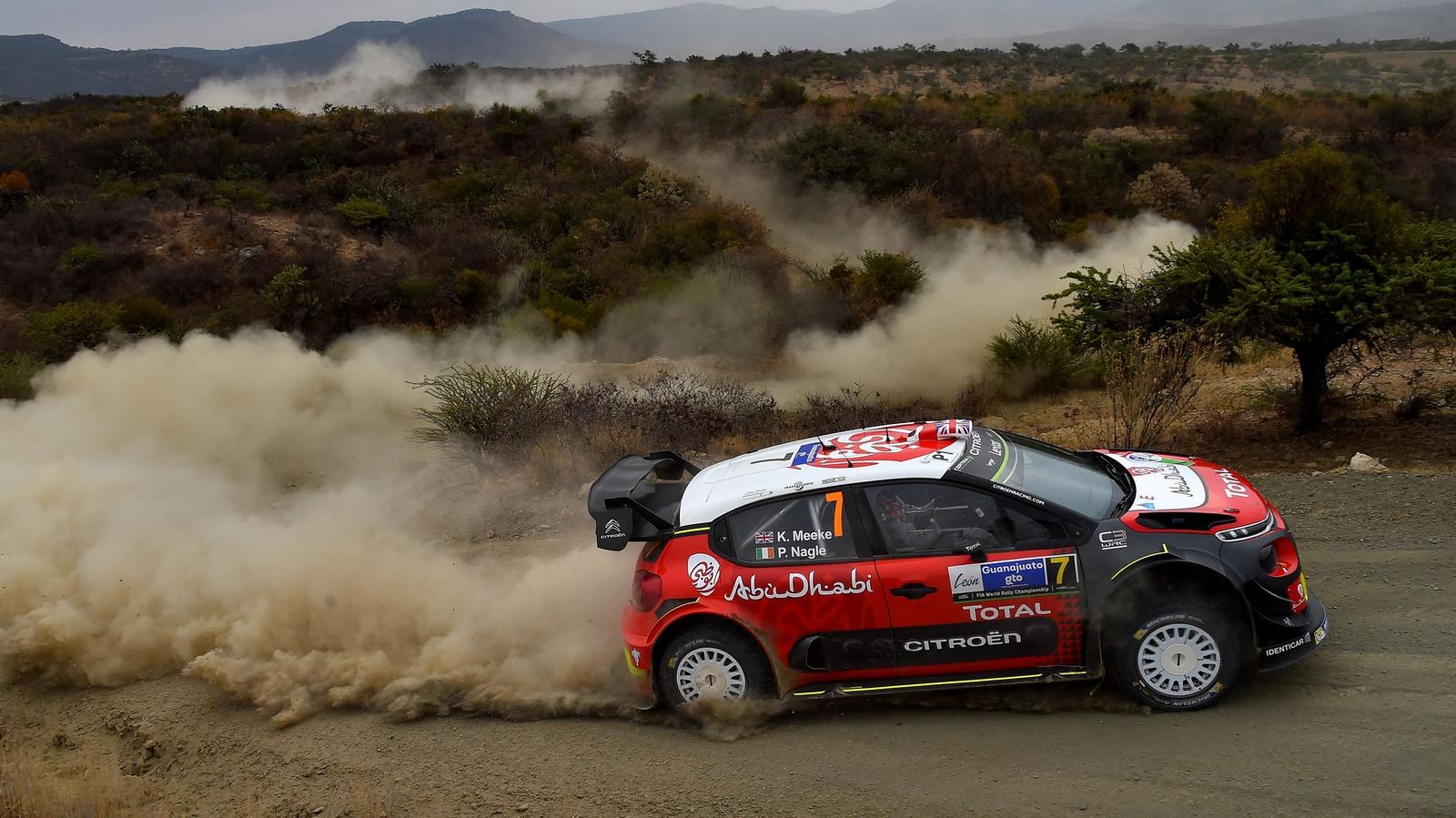 Kris Meeke leads at the Rally Corsica
