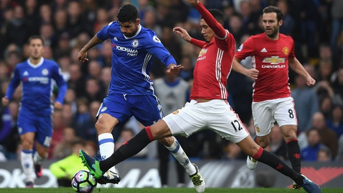 Chris Smalling found the going tough against Chelsea last October