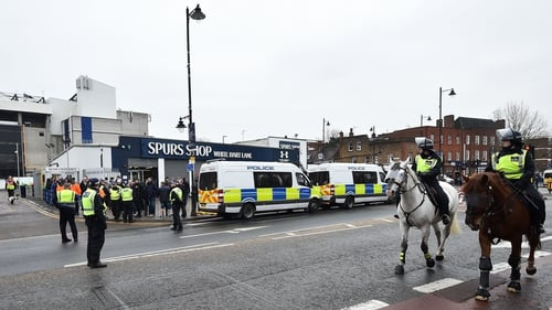There was a heavy police presence at White Hart Lane