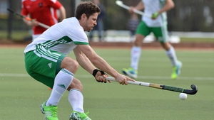 Ireland's Ronan Gormley controls the ball against Austria