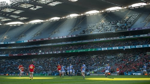A view of the action from last year's club finals at GAA HQ