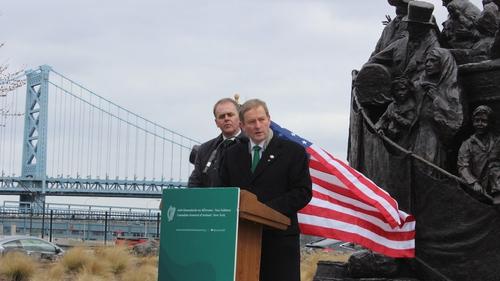 Enda Kenny announced the referendum plans in Philadelphia