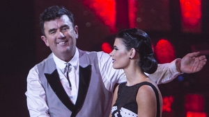 "Des with partner Karen Byrne - ""Everybody knew we weren't going to survive the dance-off"""