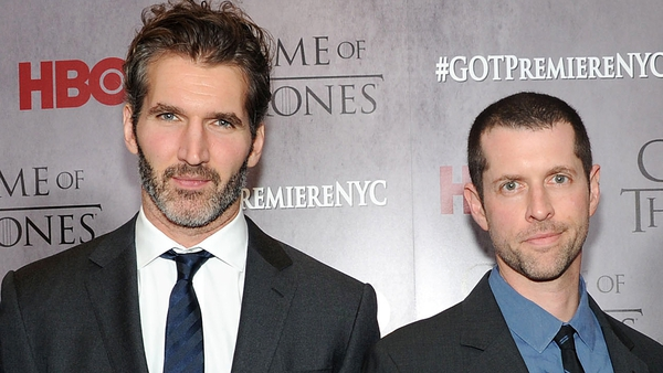 """David Benioff and DB Weiss - """"We arehonoured by the opportunity, a little terrifiedbythe responsibility, andso excited to get startedas soon asthe final season ofGame of Thronesis complete"""""""