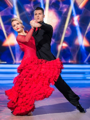 Week 10: Aoibhín became a living, breathing dancing lady emjoi for her Tango with Vitali.