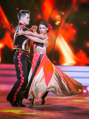 Week 10: Dayl Cronin owned the dance floor in this fiery matador costume for his
