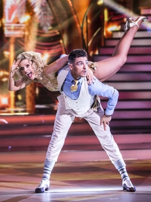 Week 10: Denise looked like a screen siren in that glitzy gold dress for her Charleston with Ryan!