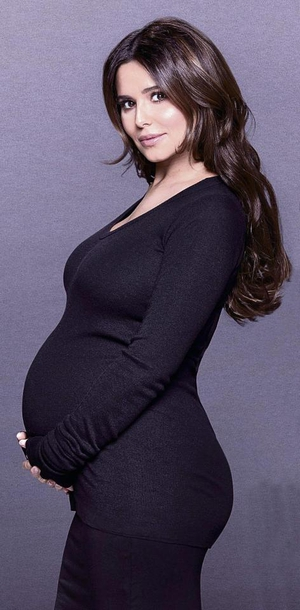 "Finally, a very pregnant and beautiful Cheryl in L'Oreal's 2017 ""All Worth It"" campaign."