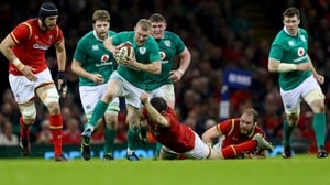 Peter O'Mahony (pictured far right) wants an Irish reaction against England