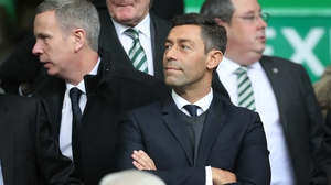 Pedro Caixinha watched Sunday's Old Firm derby from the stands