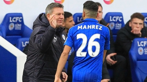 Craig Shakespeare (L) is eyeing the Champions League quarter-finals and beyond