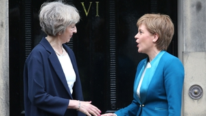 British PM Theresa May is meeting Nicola Sturgeon just two days before triggering Article 50