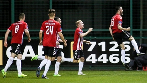 Nathan Boyle celebrates his goal Derry City