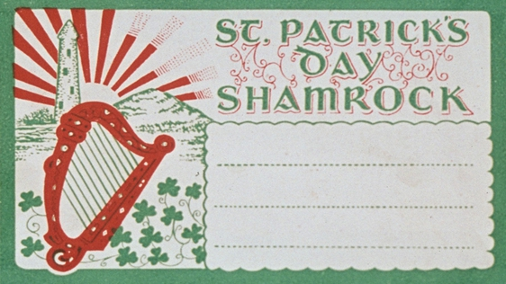 St Patrick's Day Box for posting Shamrock