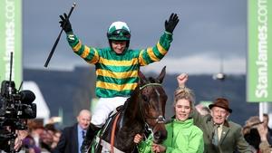 Noel Fehily celebrates Champion Hurdle success