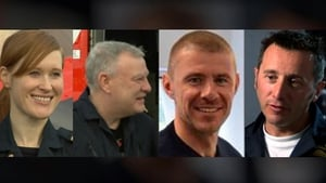 Dara Fitzpatrick (L), Paul Ormsby, Ciarán Smith and Mark Duffy died in the crash off the Mayo coast