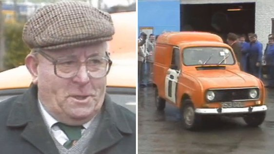 Postman Dick Herlihy and his van