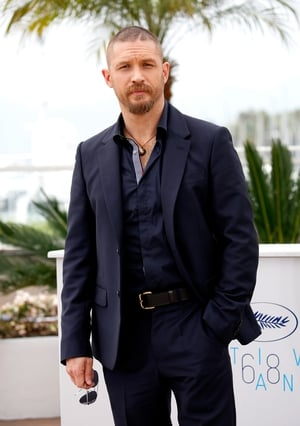 Very short hair and all navy (we sense a trend) outfit enhanced by a smouldering look at the 2015 Cannes Film Festival.